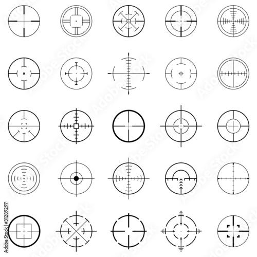 Fotomural  crosshairs