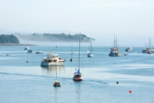 Yachts And Boats In Southwest Harbor, Mount Desert Island, Maine