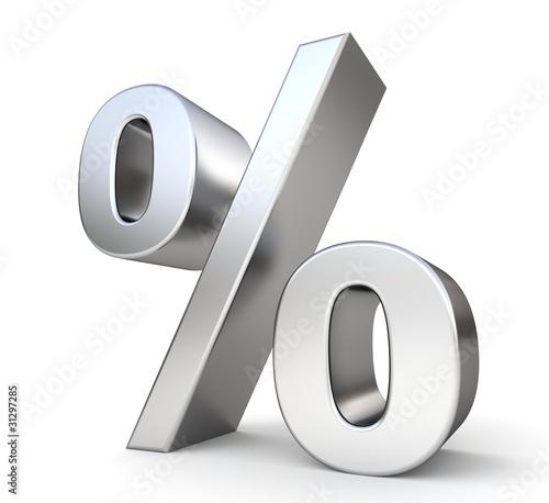 Fotografía  3d metal percent