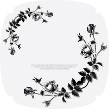 Black- White Floral Background