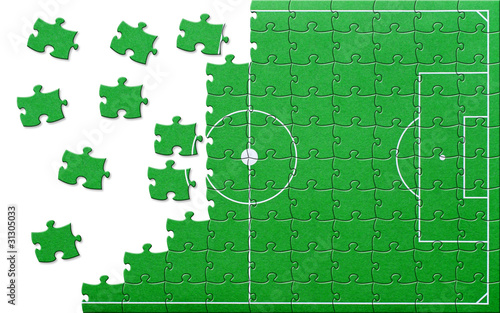 Fussball Puzzle Soccer Jigsaw Buy This Stock Illustration