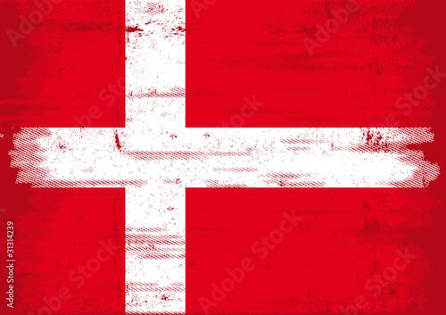 Denmark grunge flag Fototapete