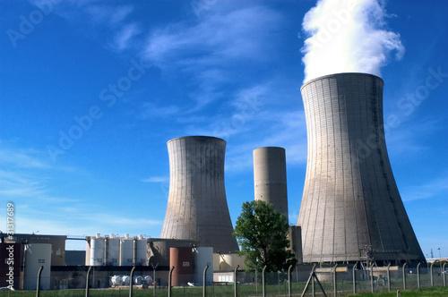 Fotografie, Obraz  Centrale nucléaire