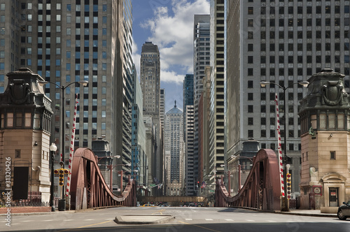 Spoed Foto op Canvas Chicago Street of Chicago.