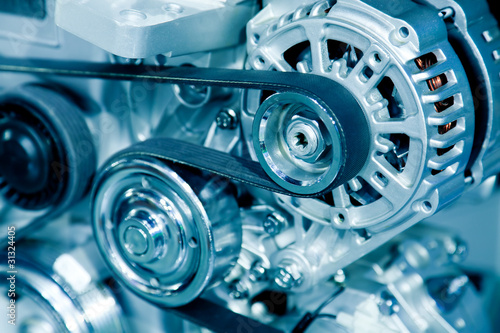 Fotografiet  Car engine