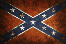 Vintage Close-up Of Confederat...