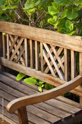 salon de jardin, banc, teck, mobilier, banquette, salon, été ...