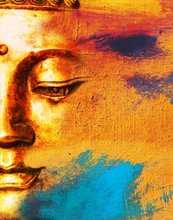 Abstract Buddha Face Background