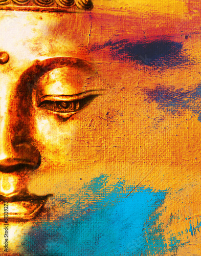 Spoed Foto op Canvas Boeddha Abstract Buddha Face Background