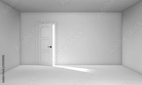 Ajar door Canvas Print