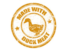 Made With Duck Meat Stamp