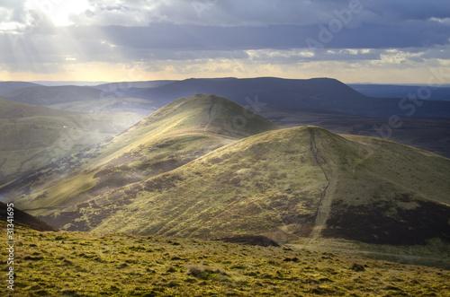 Montage in der Fensternische Huhn Landscape from Scotland's Pentlands Hills