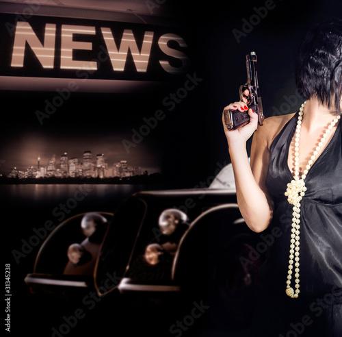 Fotografia  women and gun