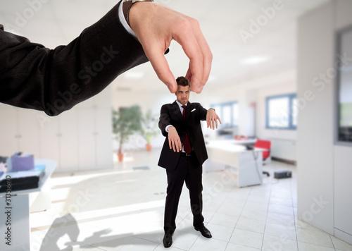 Photo  Businessman manipulation