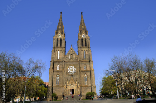 Church of St Ludmilla in Prague Czech Republic Tableau sur Toile