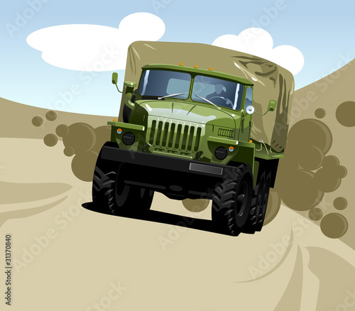 Poster Militaire off-highway truck