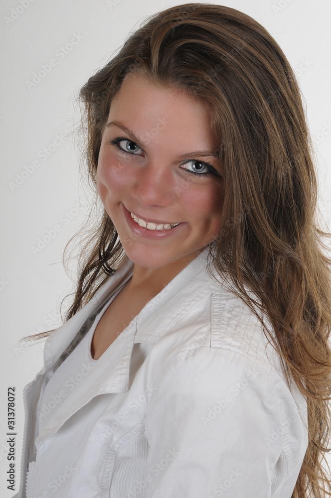 Gamesageddon Stock Junge Frau Mädchen Portrait Lange Haare