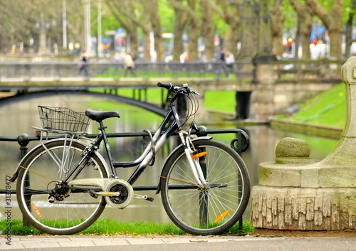 Parking vélos Canvas Print