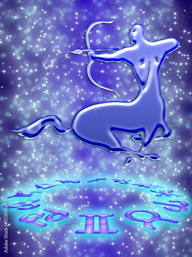 Spoed Foto op Canvas Onderzeeer sagittarius zodiac sign