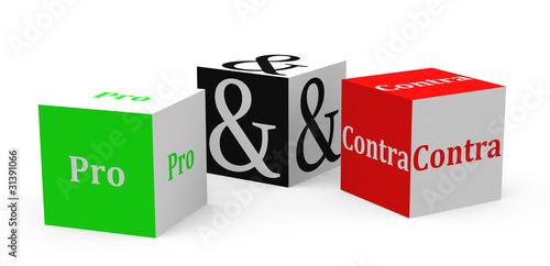 Fotografie, Obraz  Pro und Contra
