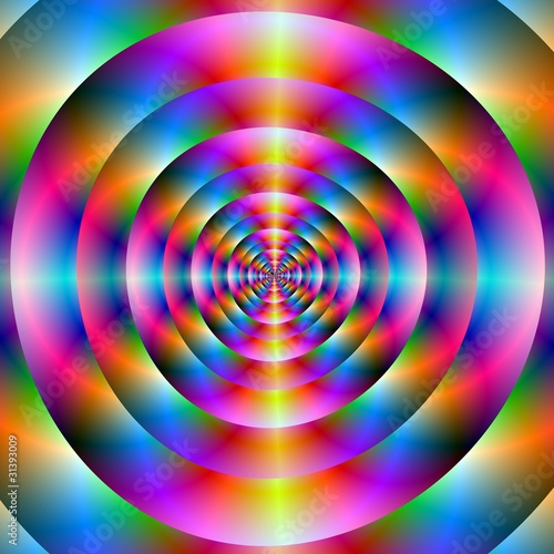 Wall Murals Psychedelic Psychedelic Concentric Rings