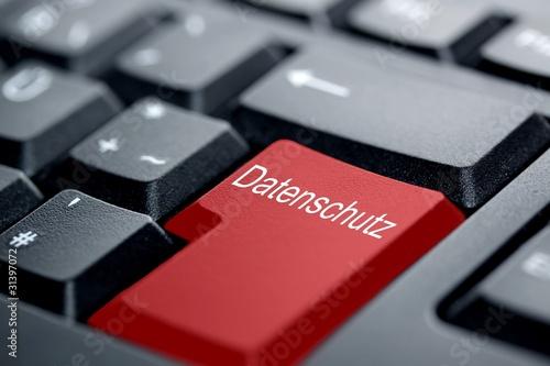 Fotografía  Datenschutz rote Taste