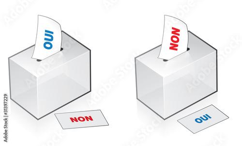 Foto  référendum, urne pour le vote