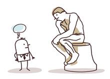 Man Watching The Rodin's Thinker