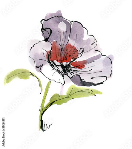 streszczenie-malowane-tle-kwiatow