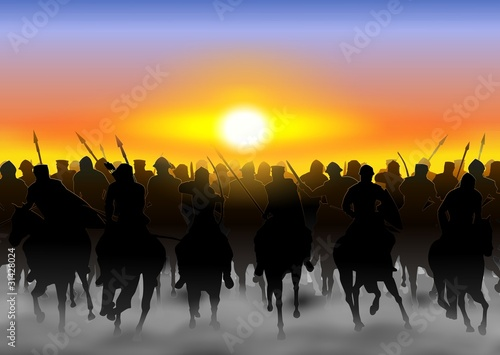 Canvastavla Cavalry