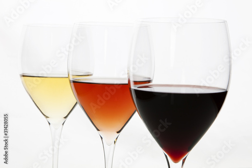 Three Colors Of Wine Red Rose And White Buy This Stock Photo