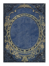 Blue And Gold Old Floral Cover Book