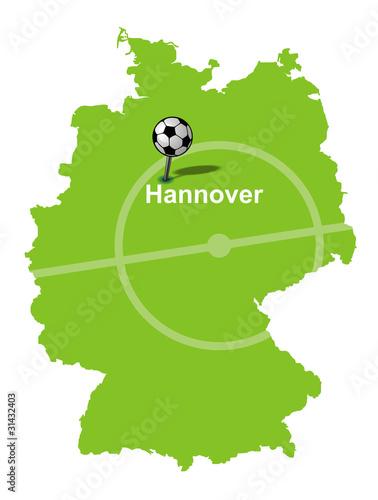 Fussballstadt Hannover Deutschlandkarte Buy This Stock Vector And