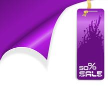 Purple Sale Tag