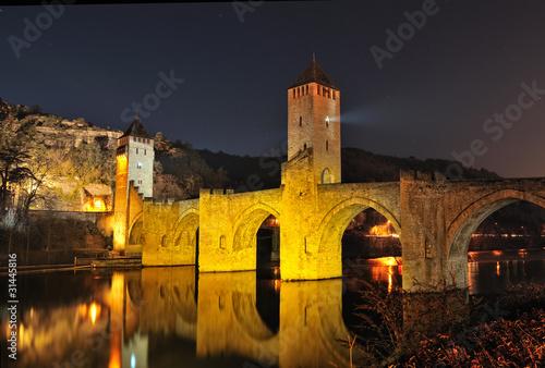Poster Bridges le vieux pont Valentré (France, Cahors)