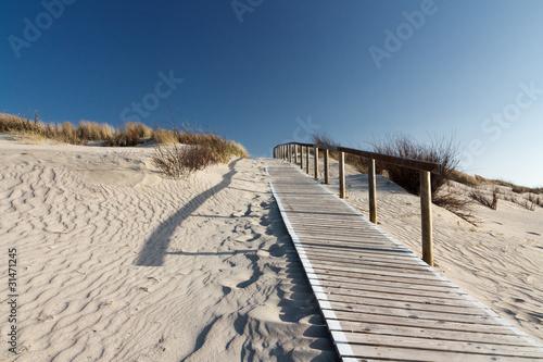 Foto-Schiebegardine Komplettsystem - Nordsee Strand auf Langeoog