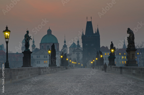 Charles Bridge, Prague Canvas Print