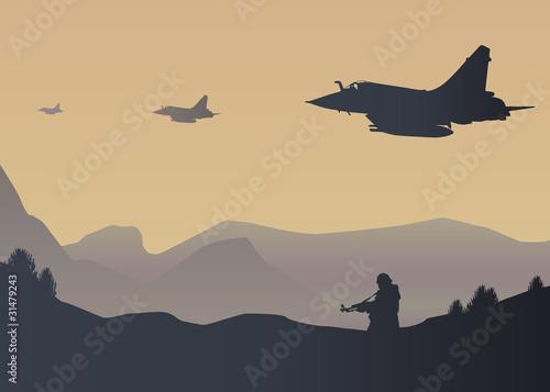 Avion de chasse Guerre Poster
