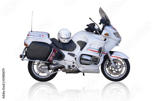 Poster Motocyclette moto de police