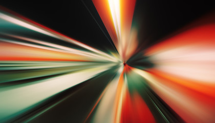 Dynamic motion blur perspective background