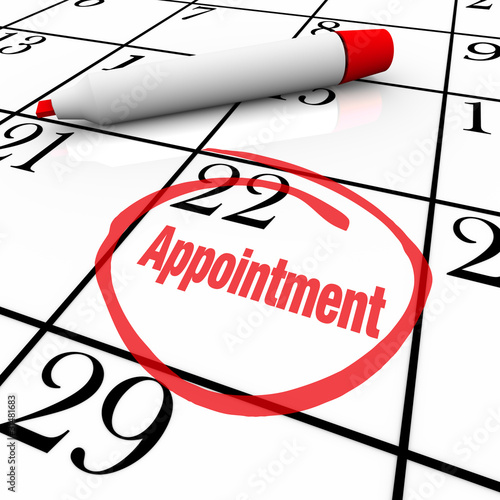 Photo Calendar - Appointment Day Circled for Reminder