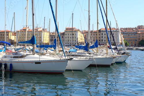 Poster Zeilen Port of Marseille in France