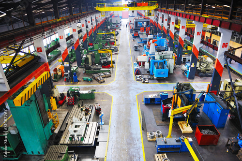 Photo metal industy factory indoor