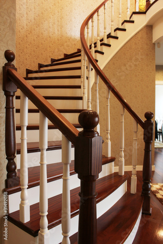 Canvas Print wooden stairs