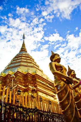 Foto op Canvas Boeddha Doi Suthep, temple in Chiang Mai, Thailand