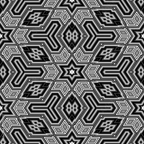 Wall Murals Psychedelic seamless 3d abstract cubes resembling an Escher illustration