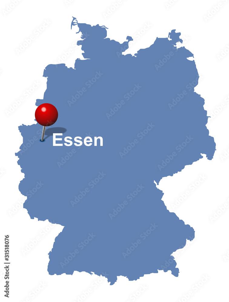 Gamesageddon Stock Stadt Essen Auf Der Deutschlandkarte