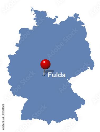 Fulda Auf Der Deutschlandkarte Buy This Stock Vector And Explore