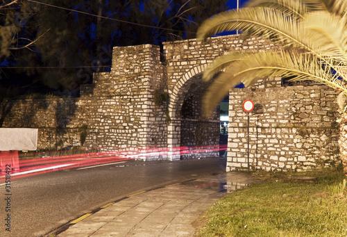 Fotografie, Obraz  Historic martyric freedom gate at Mesologi of Greece