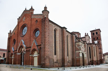 The Cathedral Of Asti (Italy)